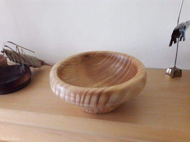 Bowl in red cedar by John Palmer