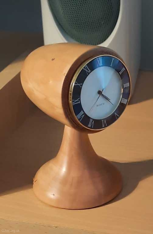 Bullet clock made by John Palmer