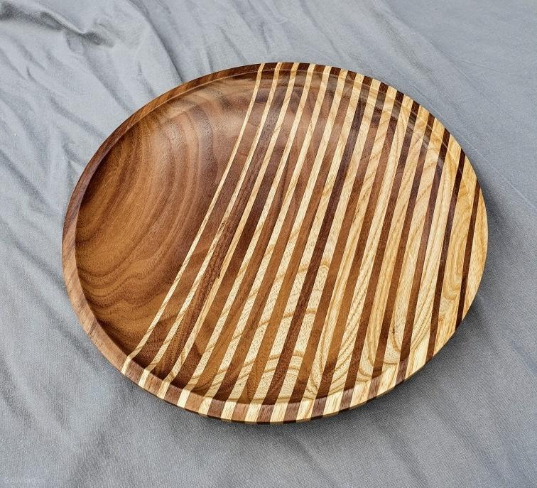 Les Cooper - Walnut and ash platter