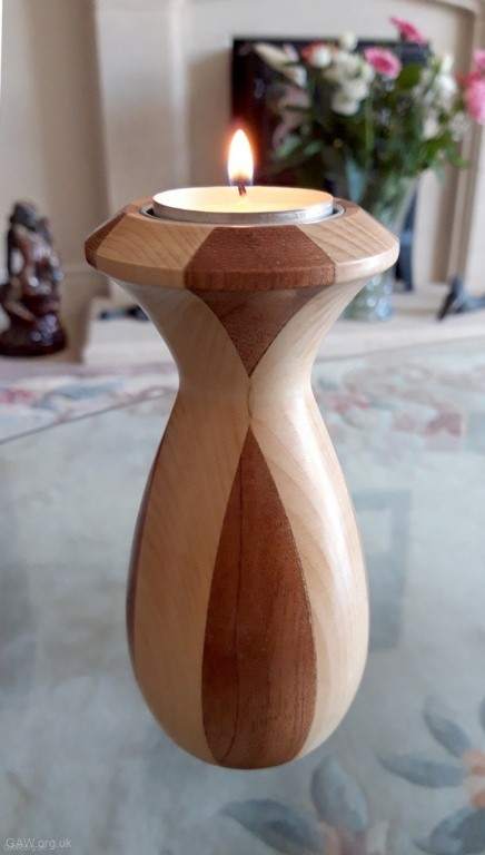 Tea light multi wood turning by Bob Holder