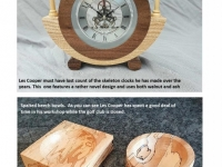 Skeleton Clock & bowls made by Les Cooper