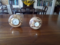Phil Yerburgh -  Clocks made from spalted ash